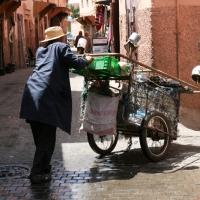 Fliegender Händler Marrakech