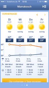 Marokko Reisevorbereitungen - Wetter