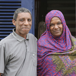 Mohamed Laghouizi and his wife Hadda