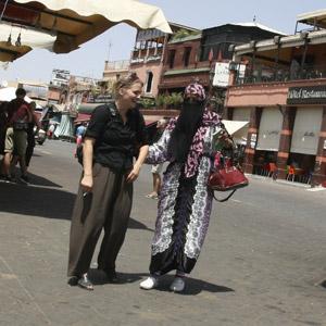 Marrakesch Souks - Djemaa el Fna - Berberfrau