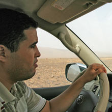 Mohamed - unser Fahrer auf der Fahrt in die Wüste Marokkos
