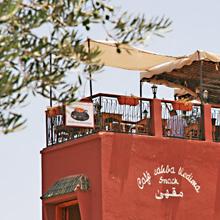 Marrakesch Dachterrassen: Restaurante Saha Kedima