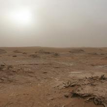 Der See Iriqui - in der Wüste Marokkos