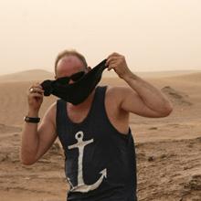 Thorsten Siefert in der Wüste Marokkos